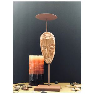 Rebel Assemblage - Masked Candle Holder with Candle for Sale in Mount Rainier, MD