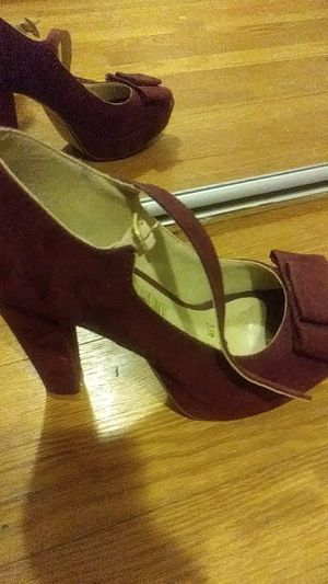 Suade Deep red high heels. I cant use high heels anymore. 6 1/2 for Sale in Rockville, MD