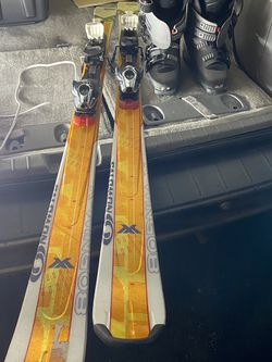 Salmon Skis 165cm, Ski Boots Size 25-25.5 for Sale in Redmond,  WA