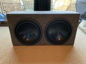 """2 Alpine Type-S 12"""" Subwoofers w/ Sealed Box for Sale in Toms River, NJ"""
