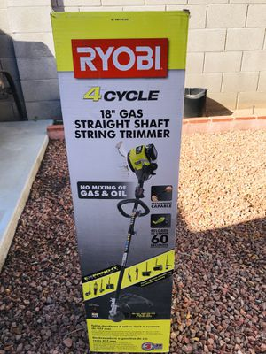 RYOBI 4-Cycle 30cc Attachment Capable Straight Shaft Gas Trimmer for Sale in Phoenix, AZ