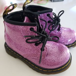 Toddlers Girls Doc Martens Glitter Boots for Sale in Whittier, CA