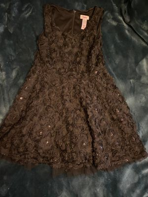 Girls black flower dress 10 for Sale in Queens, NY