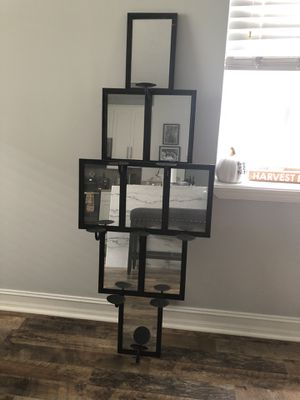 3- 9 tier decorative wrought iron/mirror candle holder for Sale in Delray Beach, FL