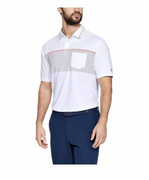 Under Armour Men Heat Gear Short Sleeve Golf Polo Shirt Size S 1325309-102 New with tags for Sale in French Creek, WV