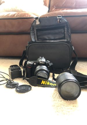 Nikon D90 with two lenses , battery charger and house bag . for Sale in Dearborn, MI