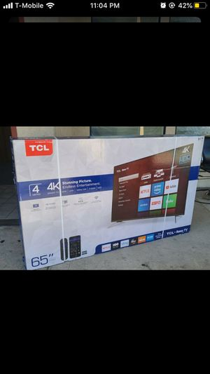 "65"" Tcl smart 4K UHD Led HDR tv 2160p for Sale in Rancho Cucamonga, CA"