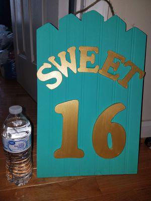 Sweet 16 Handmade Frame for Sale in Ashburn, VA