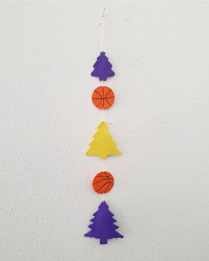 Lakers Christmas Wall Hanging for Sale in Pico Rivera, CA