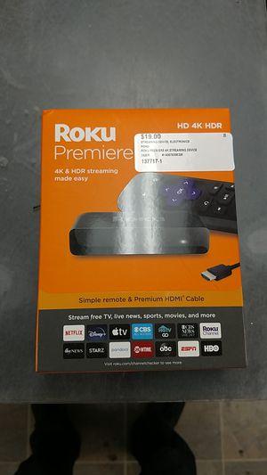 Roku Premiere 4K Streaming Device for Sale in Chesapeake, VA
