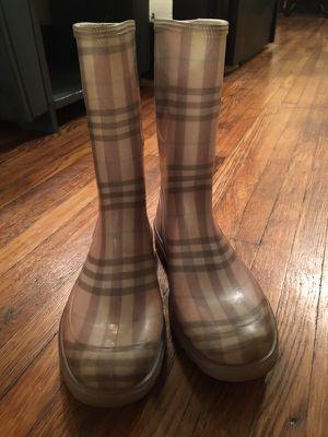 Authentic designer Burberry rain boots for Sale in Nashville, TN