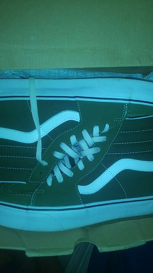 Green n white vans size 9 for Sale in Boston, MA