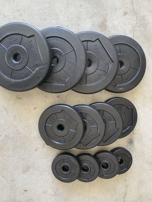 """75 LBS of Standard 1"""" Weights (Not Olympic) for Sale in Hope Mills, NC"""