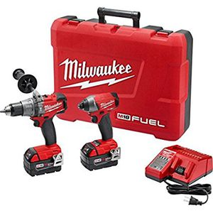 Milwaukee 2897-22 M18 18V FUEL Hammer Drill / Impact Driver 2-Tool Cordless Combo Kit (5 Ah) for Sale in Washington, DC