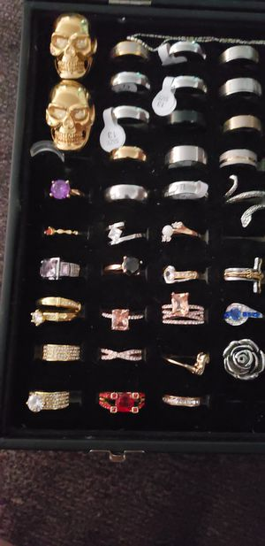 Sterling silver and stainless steel steel rings for Sale in Hanford, CA