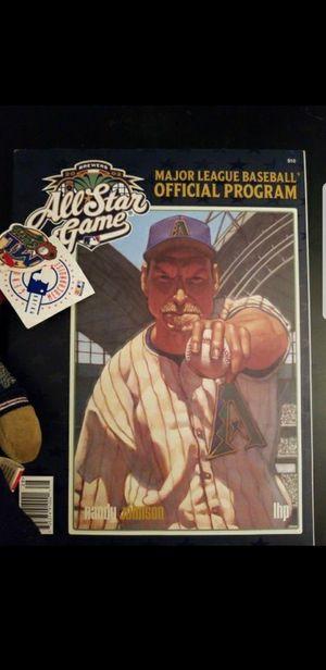 2014 All Star Game Hat 2002 Randy Johnson Program NWT D- backs #ed Beanie baby for Sale in Scottsdale, AZ