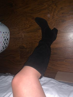 STEVE MADDEN BLACK SUED THIGH HIGH BOOTS for Sale in West Covina, CA
