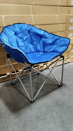 Brand new XL foldable chair camping chair outdoor sports chair blue or black color with Carrying Bag for Sale in Whittier, CA