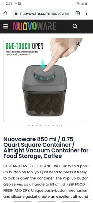 Nuovoware Airtight container 850 ml size for Sale in Fremont, CA
