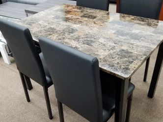 New Box Five Piece Marble Top Dining Table Set for Sale in University Park,  MD