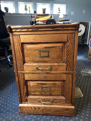 Oak file cabinet OBO for Sale in Norfolk, VA
