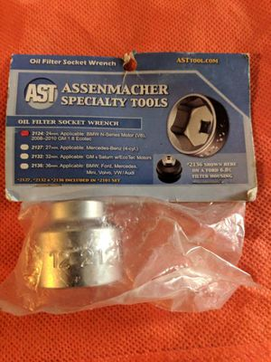 Used, Assenmacher Specialty Tools 2124 24mm Oil Filter Socket for Sale for sale  Wellington, FL