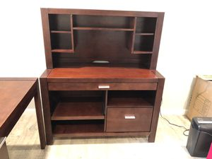 Writing desk + Hutch + Filing Cabinet for Sale in San Diego, CA