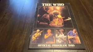 The Who concert program for Sale in Chino Hills, CA