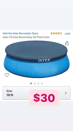 Intex 10ft Round Easy Set Pool Cover for Sale in Pomona, CA