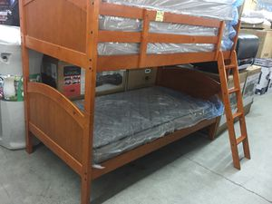 Wood twin over twin bunk bed frame for Sale in Seattle, WA