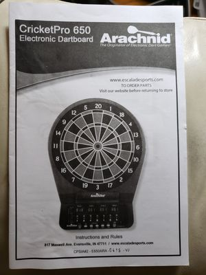 Electronic dart board for Sale in Conneaut, OH