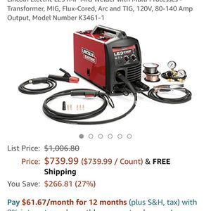 Lincoln Electric LE31MP MIG Welder with Multi for Sale in Brooklyn, NY