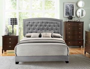 Queen tufted bed frame financing available for Sale in Greensboro, NC