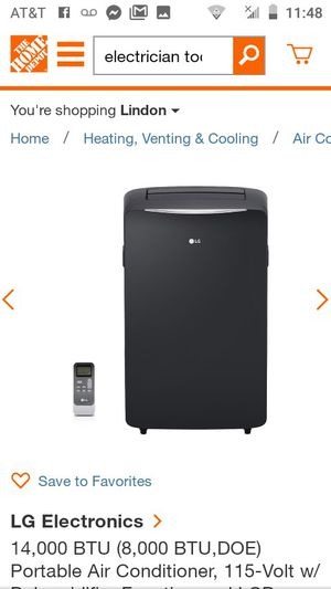 LG Portable Air Conditioner for Sale in South Salt Lake, UT