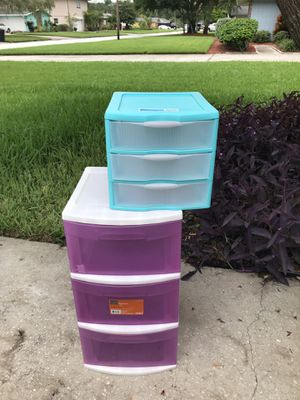 Storage container drawers - $8 large one $4 small one for Sale in St. Petersburg, FL