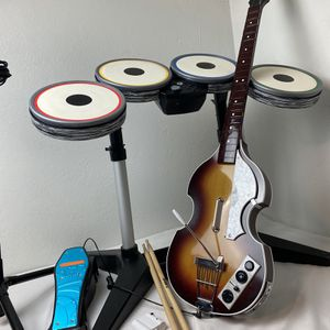 The Beatles Rock Band Nintendo Wii Wii U Wireless Drums Horner Guitar Dongles for Sale in Antioch, CA