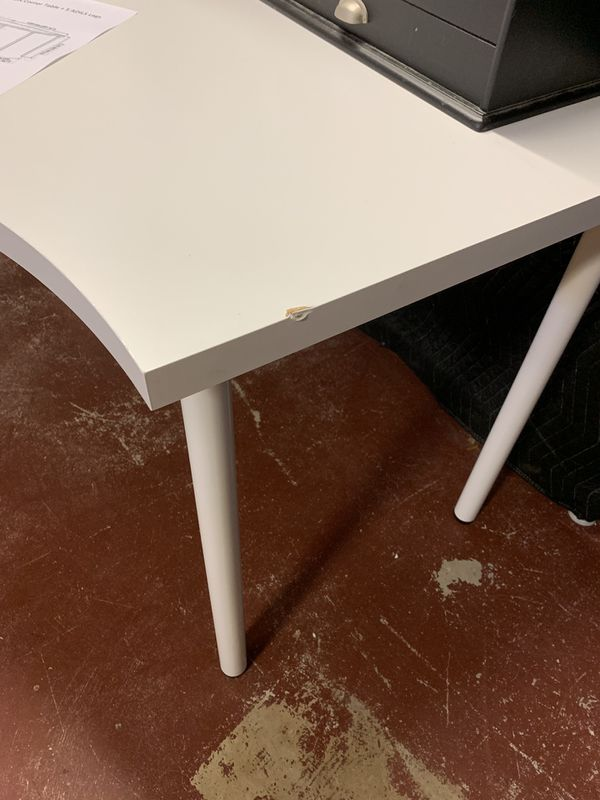 Ikea Linnmon Corner Desk And Extension - White -