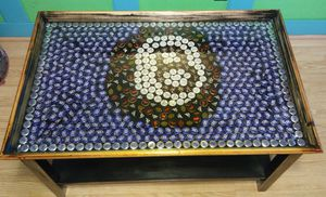 Custom 8 Ball Bottle Cap Resin Coffee Table for Sale in Lake Wales, FL