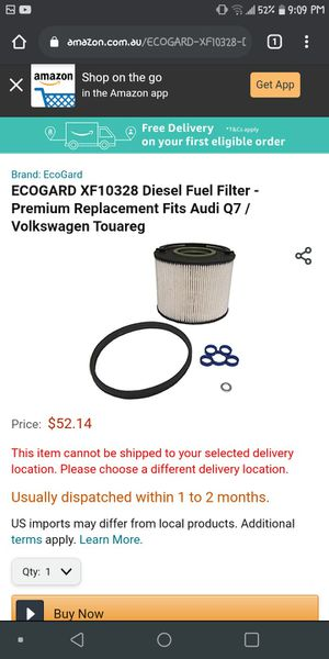 Ecogard fuel filter for Sale in BETHEL, WA