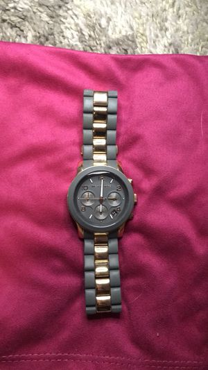 MK WATCH - gray silicone with gold . Runway watch . for Sale in Austin, TX