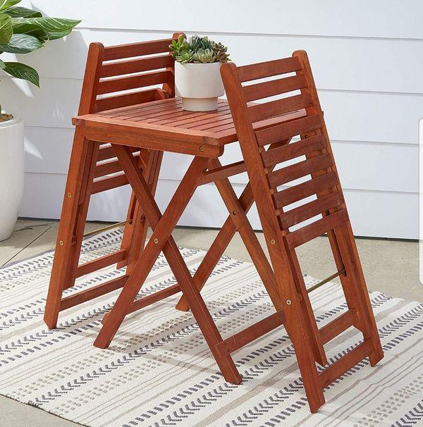 BRAND NEW 3 Piece Patio Set Outdoor Furniture Wood