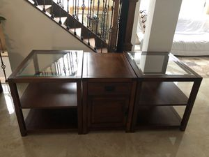 It's antique , Tv console or side tables good quality wood strong , for Sale in Centreville, VA