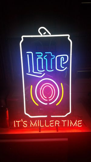 Real Its Miller time neon sign for Sale in Van, TX