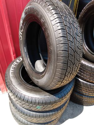Set 225/70/16 Bridgestone Dueler H/T used $260 Includes installation and balance for Sale in Pico Rivera, CA