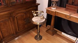 Vintage Brass & Marble Phone Table for Sale in Madison, WI