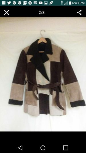 Women Vintage Leather Coat multi color XL for Sale in Cleveland, OH