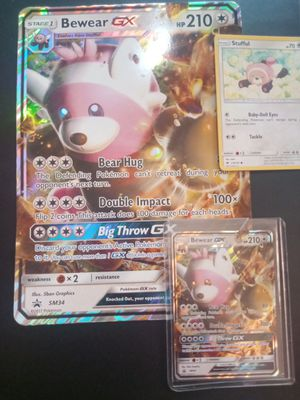POKEMON TCG BEWEAR GX PROMO BUNDLE. + 1FREE RARE CARD WITH ALL EVOLUTIONS for Sale in Rockville, MD
