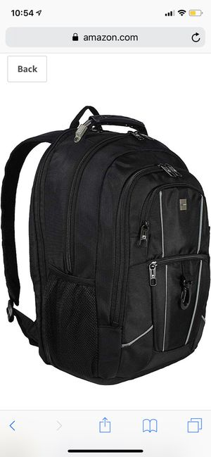 """Dejuno Commuter BackPack (Black) with 15.6"""" laptop pocket for Sale in Revere, MA"""