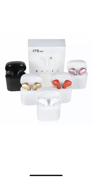 New I7s twn Bluetooth wireless headphones earbuds audifonos for sale for Sale in Denver, CO