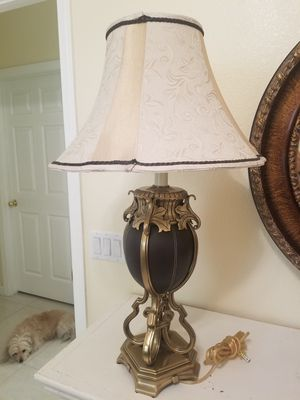 1 lamp ,brass and leather. for Sale in Las Vegas, NV